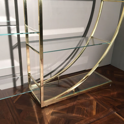 Reclaimed Mid-Century Brass Etagere Shelving Unit - architectural-forum