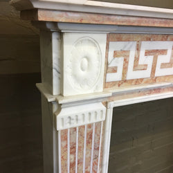 Marble inlay fire surround