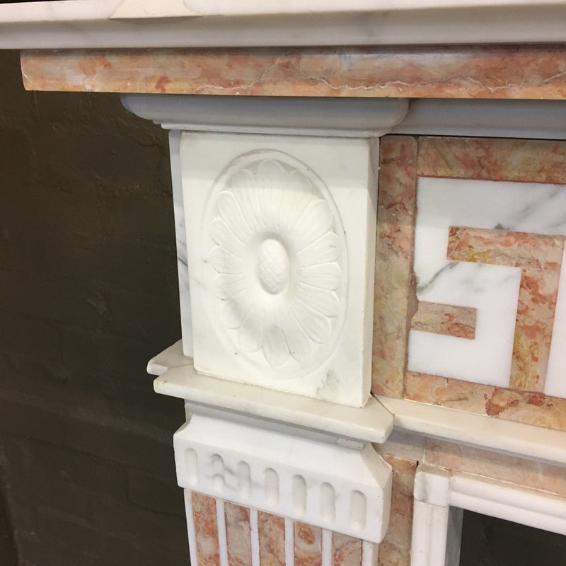 Fireplace surround in marble