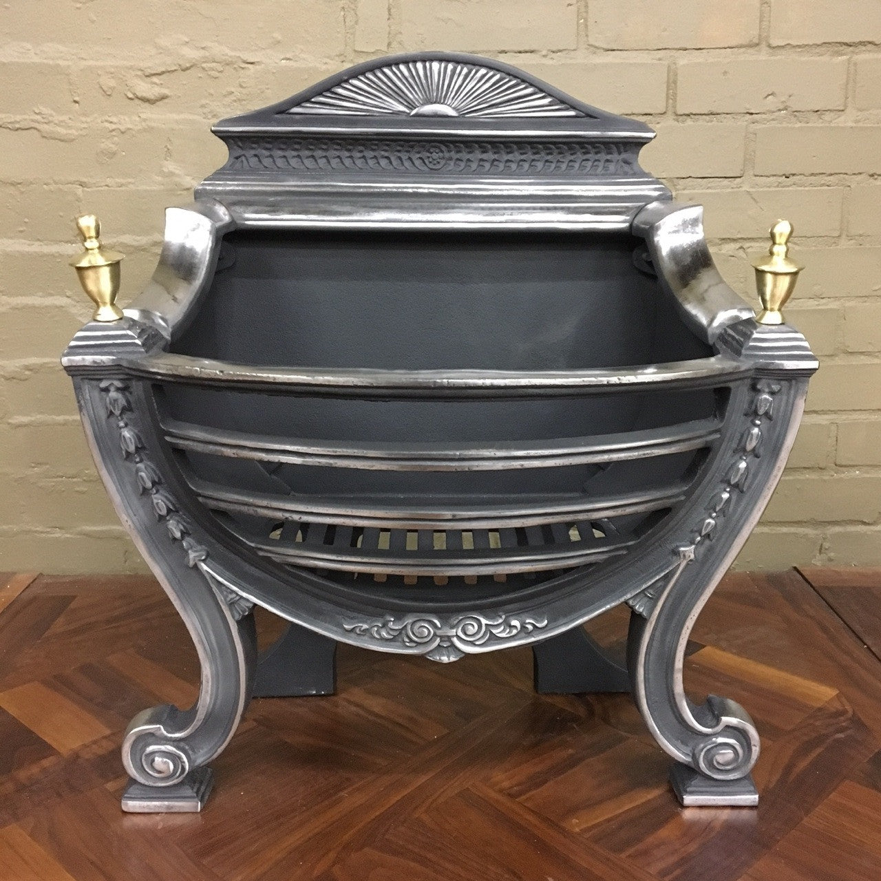 Victorian style fire basket
