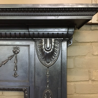Antique Neoclassical Cast Iron Fireplace Surround - architectural-forum