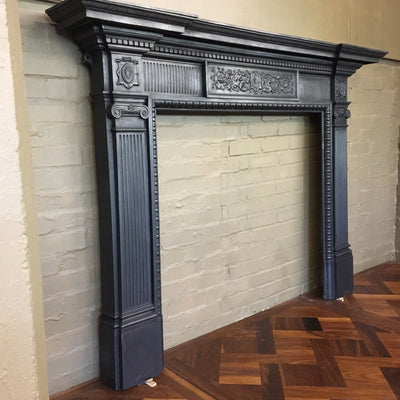 Antique Cast Iron Fireplace Surround - The Architectural Forum