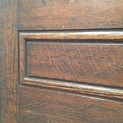 Panelled oak doors