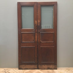 Antique oak copper glazed doors