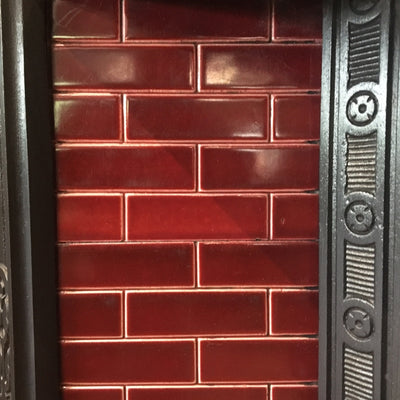 Antique Victorian Tiled Fireplace Insert - architectural-forum