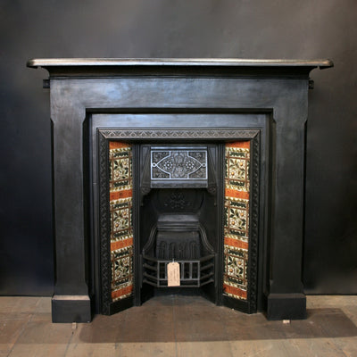Black cast iron surround with insert