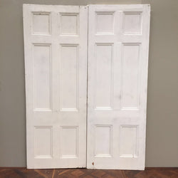 Antique pine double doors