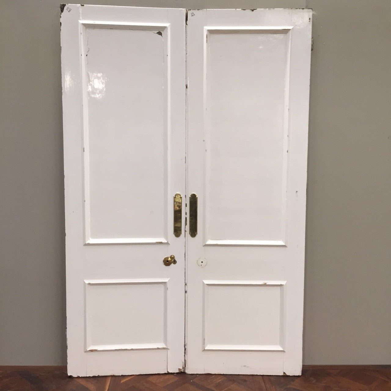 Antique Pine Double Doors - architectural-forum