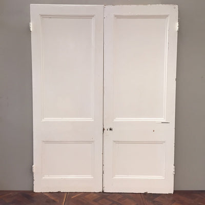 Antique Pine Double Doors - The Architectural Forum