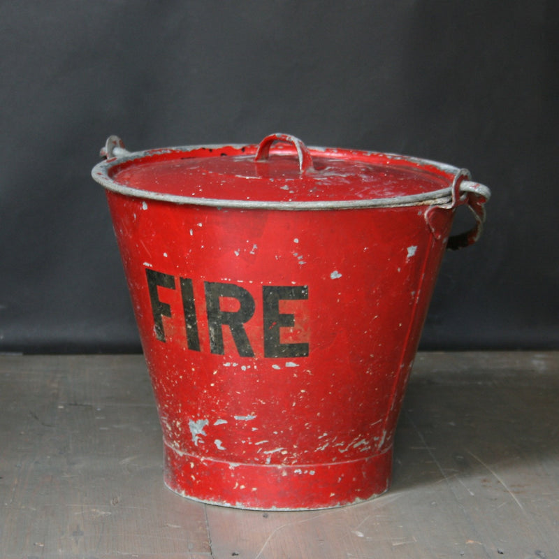 Vintage Fire Bucket and postage