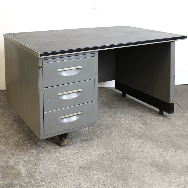 Vintage 1950s Industrial Metal Desk - architectural-forum