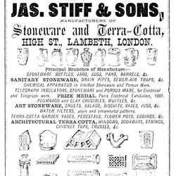 j stiff and sons advertisement poster