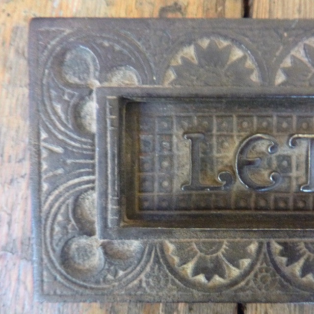 Antique Victorian Cast Iron Letter Box - The Architectural Forum