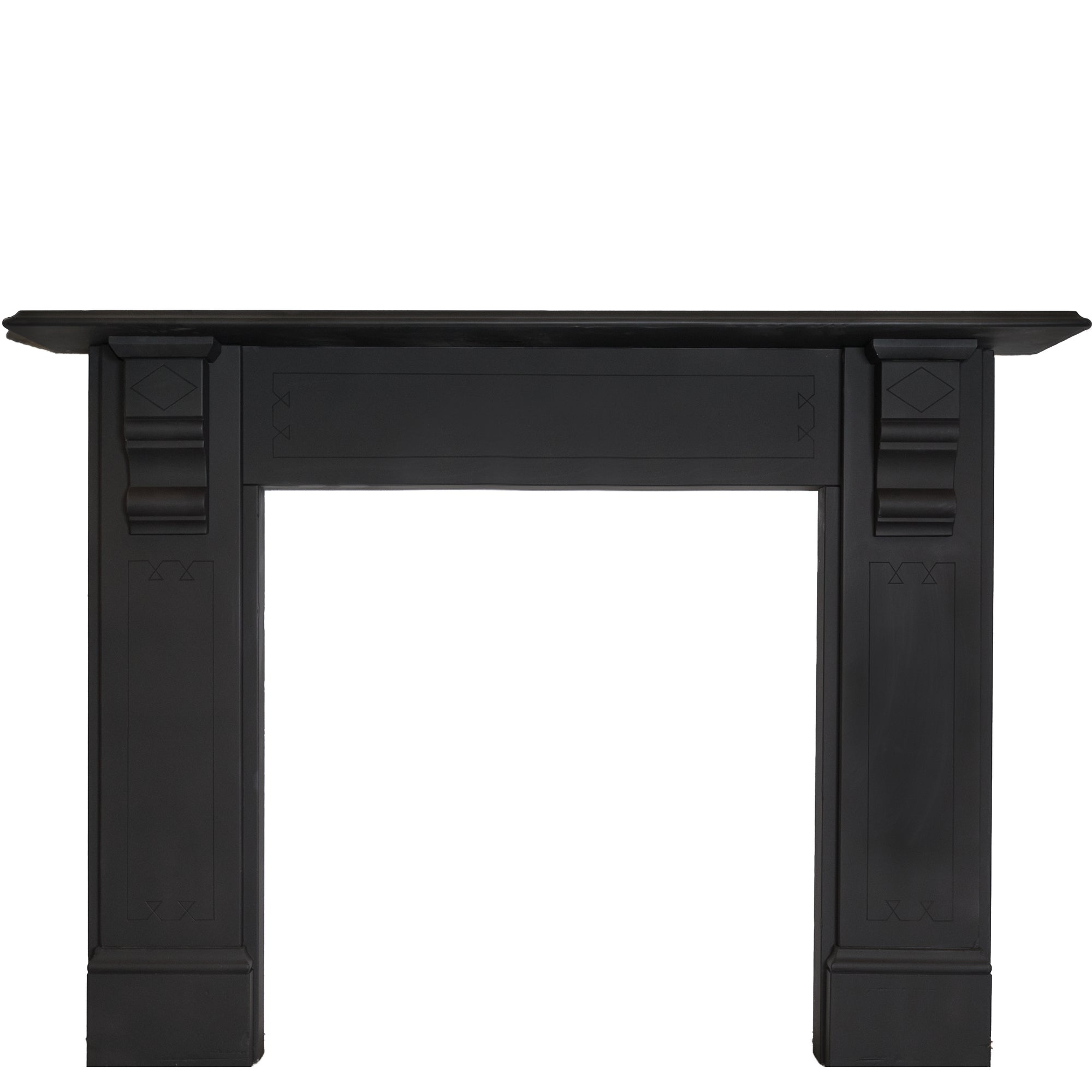 Antique Victorian Slate Fireplace Surround With Corbels | The Architectural Forum