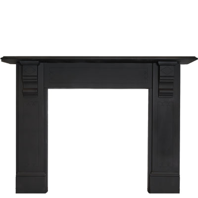 Victorian Style Black Slate Fireplace Surround With Corbels