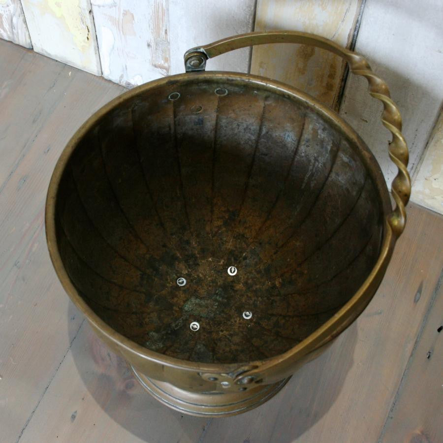 Antique Solid Brass Bucket | The Architectural Forum