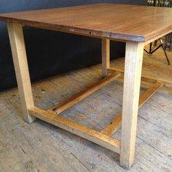 Large Reclaimed Vintage Iroko Top Wooden Tables
