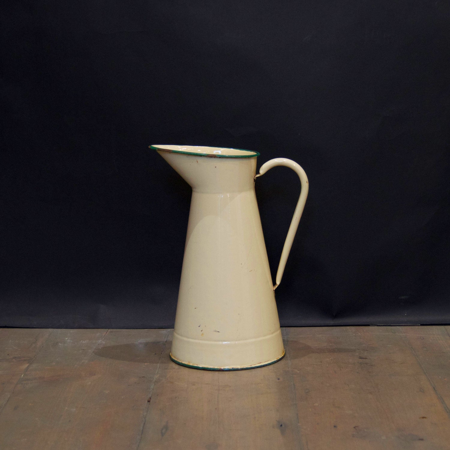 Reclaimed Large Cream Vintage Water Jug - architectural-forum