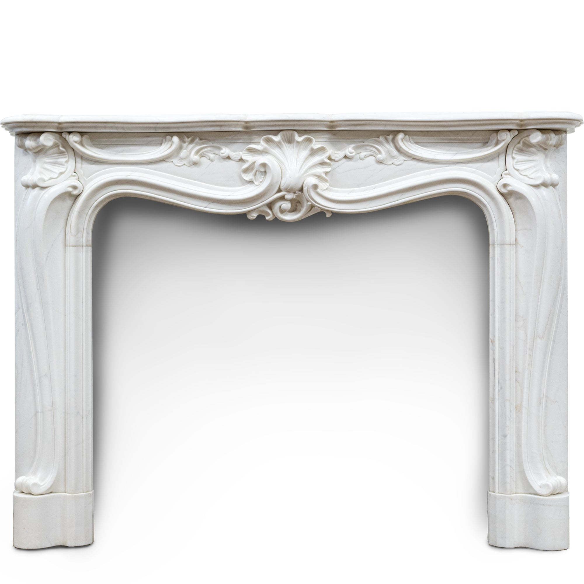 Reclaimed Regence Rococo Style Marble Fireplace Surround | The Architectural Forum