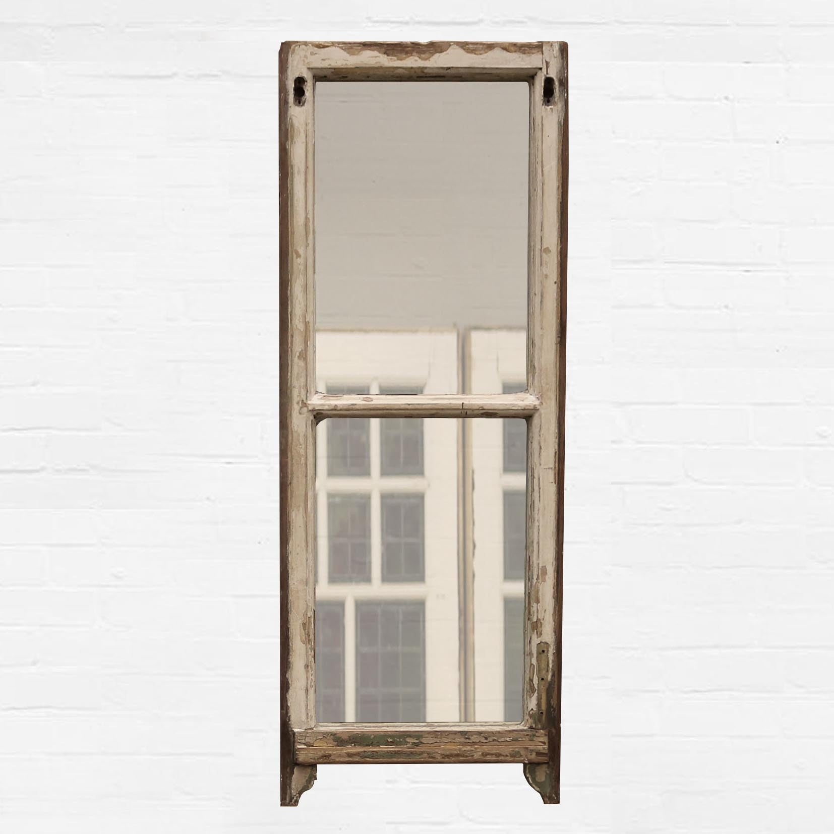 Reclaimed Antique Sash Window Mirror - architectural-forum