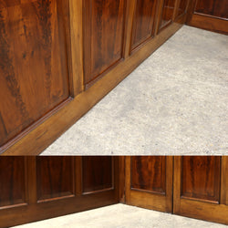 mahogany panelled room