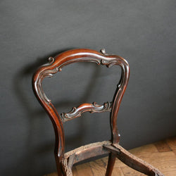 Balloon backed Victorian chairs