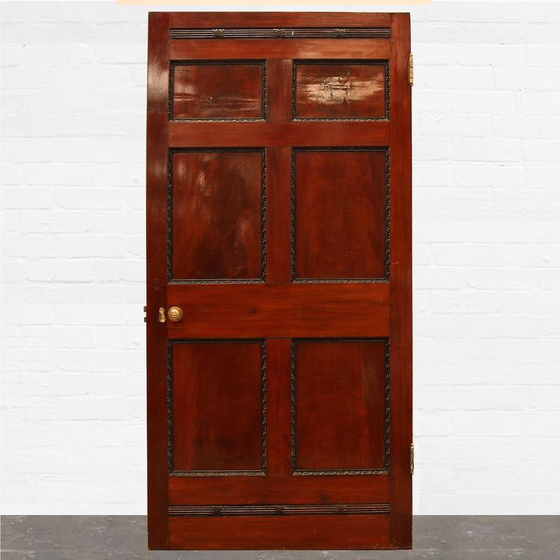 Georgian Flame Mahogany Six Panel Door