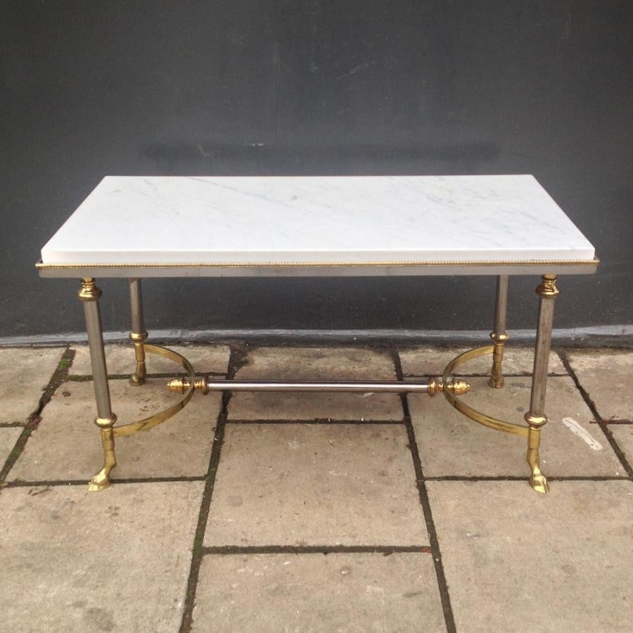 Marble and Brass Coffee Table | The Architectural Forum