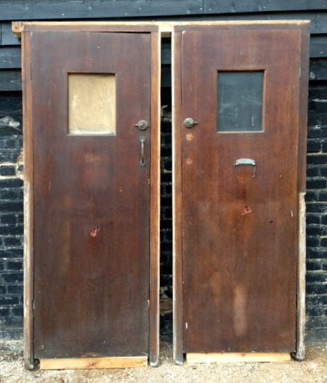 Mid-Century Oak Cubicle Doors - architectural-forum
