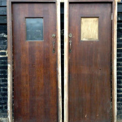 Pair of cubicle doors