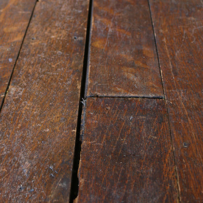 dark stained oak floorboards