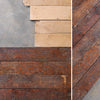 Reclaimed solid oak strip flooring