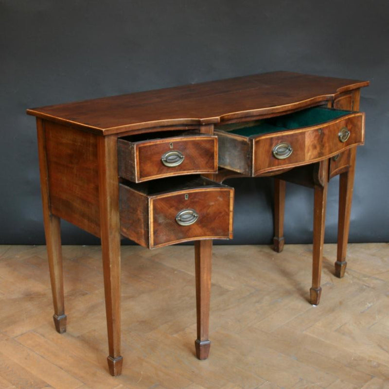 Regency bow-fronted desk