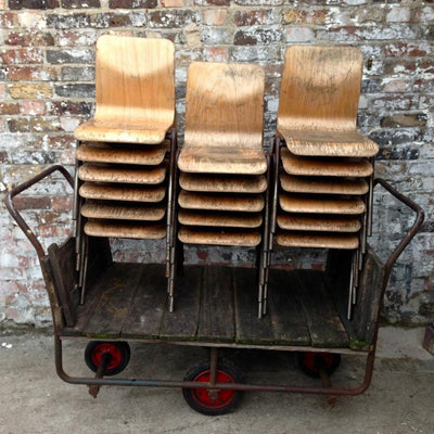 Reclaimed barrow cart