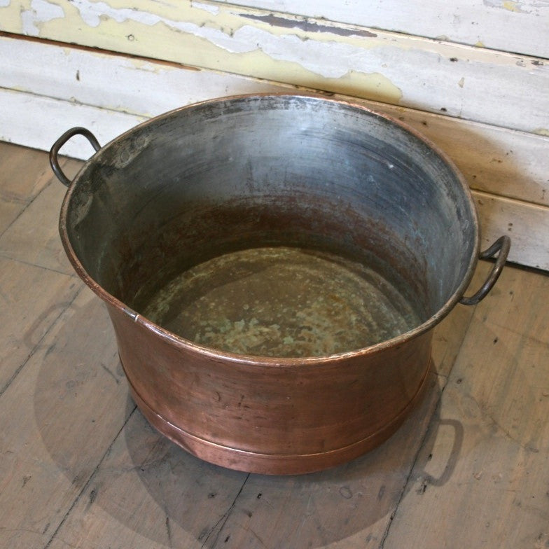Antique Polished Copper Cooking Pot