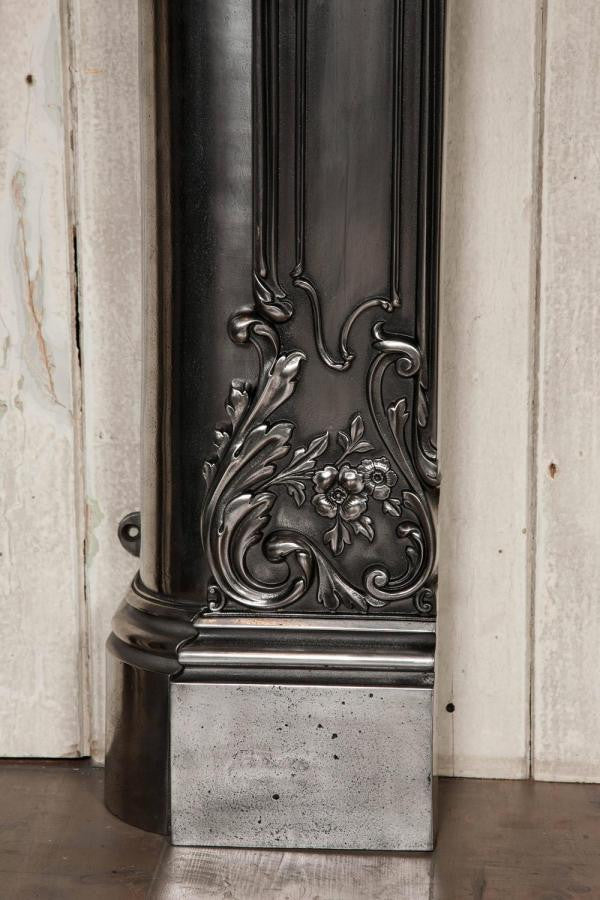 Polished cast iron surround