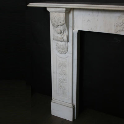 Antique Victorian Carved Marble Fireplace Surround - The Architectural Forum