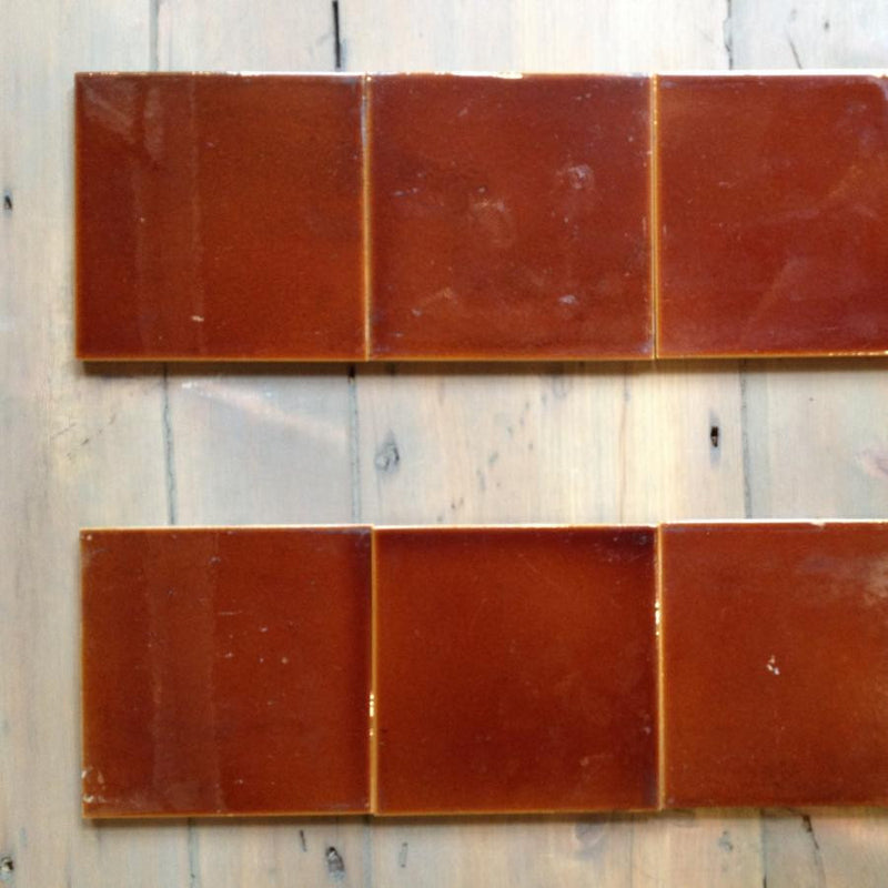 Antique glazed tiles