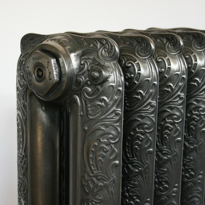 Antique Ornate Polished Cast Iron Radiator