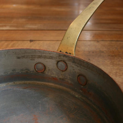 Antique Copper and Brass Saute Pan - architectural-forum