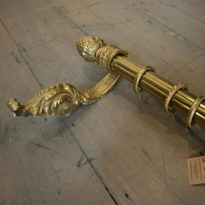 Antique Brass Curtain Rail - architectural-forum