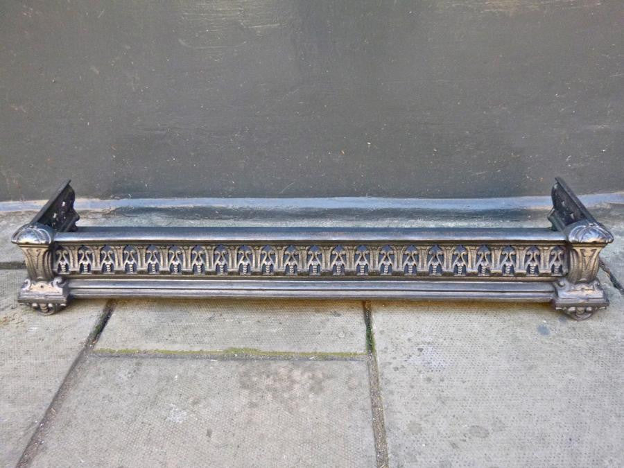 Antique Victorian Cast Iron Fireplace Fender | The Architectural Forum