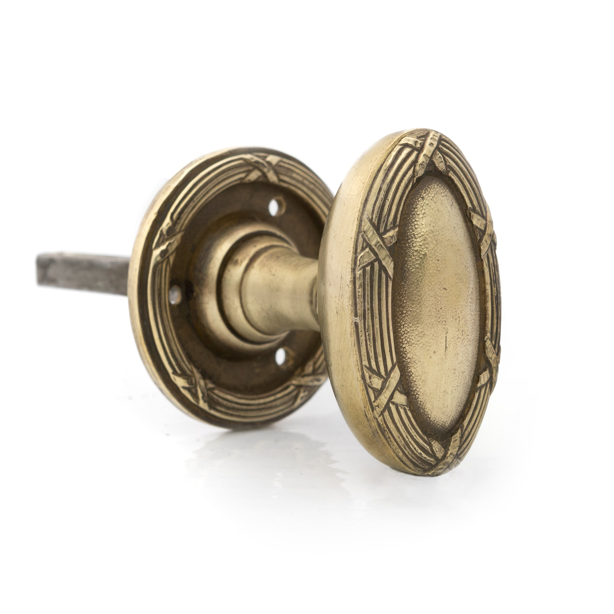 Antique Edwardian Oval Brass Door Knob | The Architectural Forum