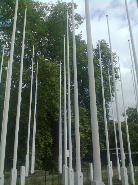 Commonwealth Institute Flag Poles - architectural-forum