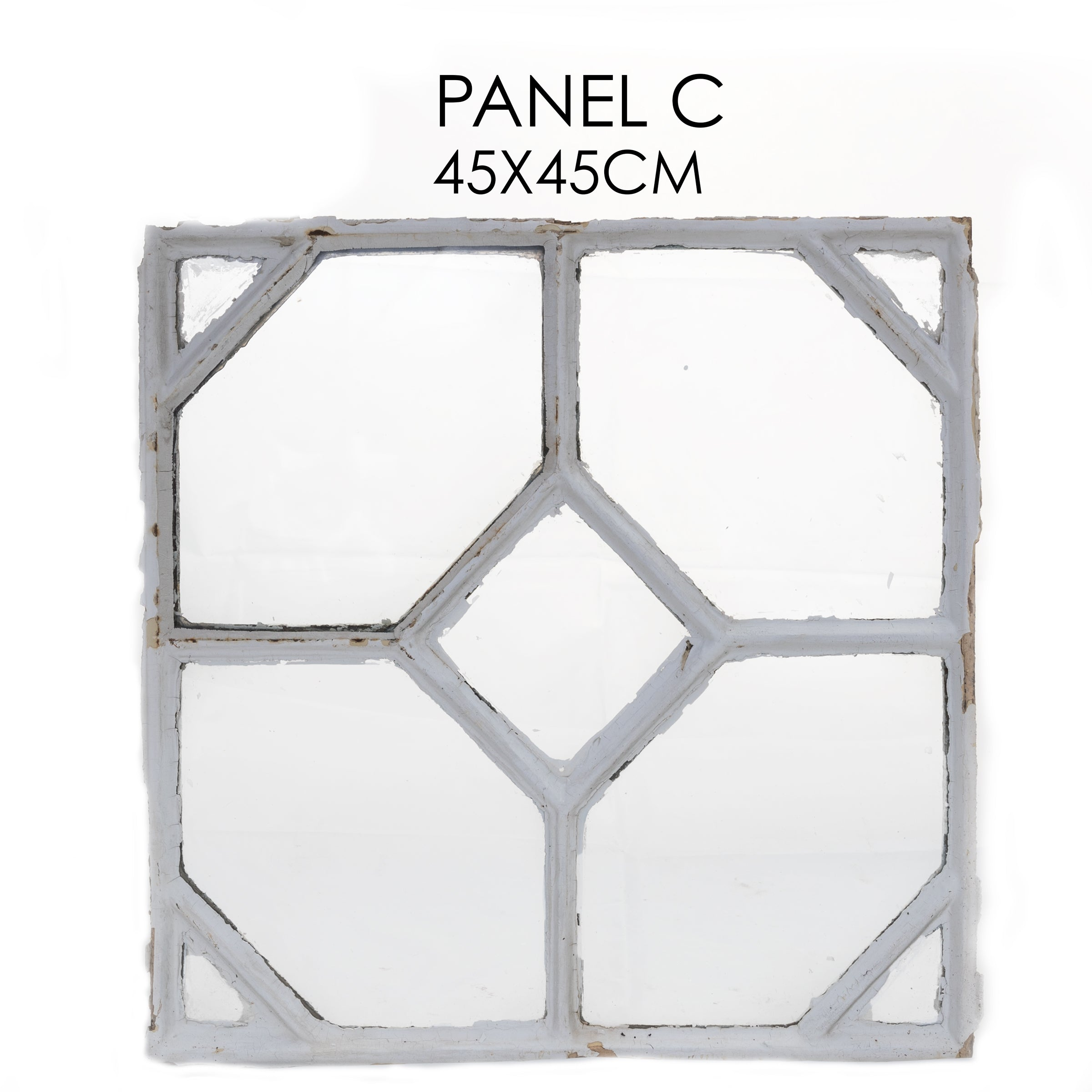 Reclaimed Late 19th Century Crittall Style Honeycomb Window Panels - C