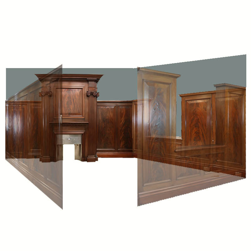 Complete Flamed Mahogany Antique Panelled Room - architectural-forum