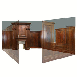 Complete Flamed Mahogany Panelled Room