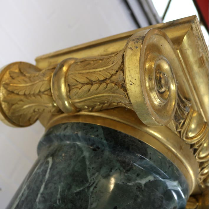 Pair of Green Marble Columns (2 Pairs available)
