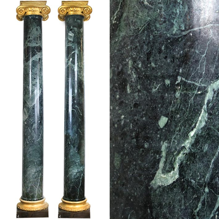 A Pair of Green Marble Columns