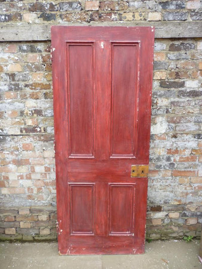 Original Victorian Pine Panelled Door - 200.5cm x 80.5cm - architectural-forum